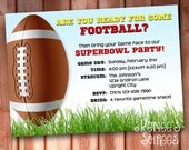 FOOTBALL Party INVITATION - Printable Gridiron Invite - Personalized DIY - also for Team Event, Superbowl, or Baby Shower