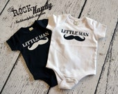 Little Man Mustache Bodysuit