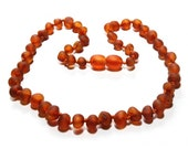 Baltic Amber Teething Necklace - RAW Dark Honey - Made in Canada