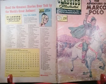 Book Comics Classics Illustrated Comics: The Adventures of Marco Polo No 27 Spring 1969