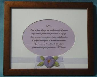Mom's Poem in Spanish