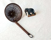 Wicker ladle, basket weavewicker sievefor vegetables, woven dipper from Indonesia with handle