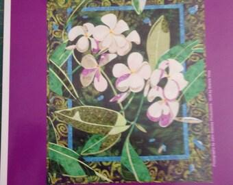Sale Plumeria quilt pattern by Bigfork cotton company