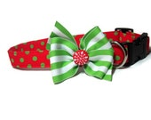 Polka Dot Christmas Collar size Medium
