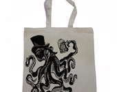 Otto the Octopus  - Canvas Tote Bag - 2 Color Options