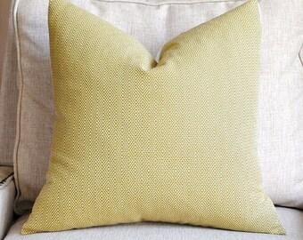 Beautiful Decorative Pillow Cover-18x18-Hampton Court Diamond-Chartreuse