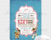 Vintage Cowboy and Indian Invitation, Cowboys and Indians Invite - 5x7 PRINTABLE