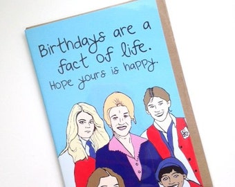 Funny Pop Culture Facts of Life 80s birthday card