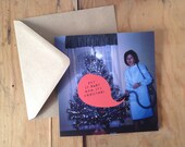 Sale - Put it away Mum it's Christmas! Found Photo Christmas Tree Eco Friendly Greeting Card