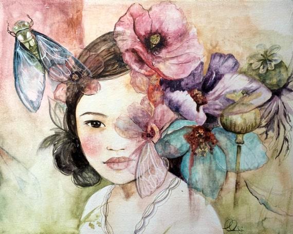 The cicada art print