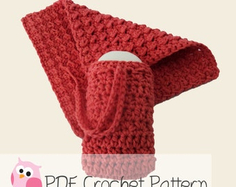 Washcloth and Soap Saver Set :Crochet Pattern Instant Download