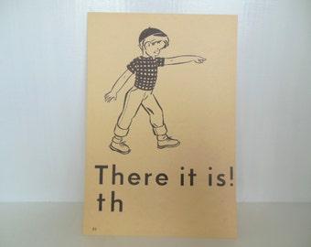 "Vintage Picture Flash Card Boy Large (8"" by 5 1/2"") Paper Ephemera 1950's (item 12)"