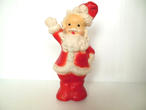Vintage Santa Toy Squeaky Christmas Decor Collectible 40s -50s (ite...