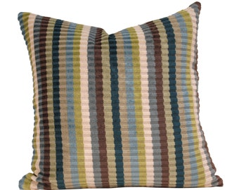 Pillow - Designer Pillow - Kravet Couture Stripe Pillow - Toss Cushion