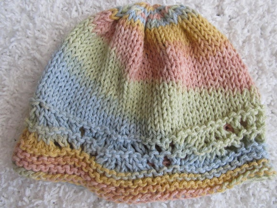 Pastel Rainbow Girl's or Woman's Hat