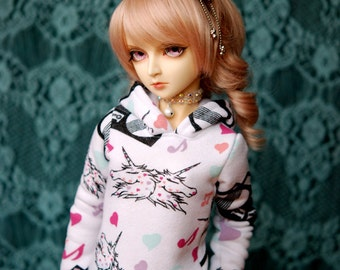 BJD Unicorn Music Hoodie For SD Delf Feeple 60