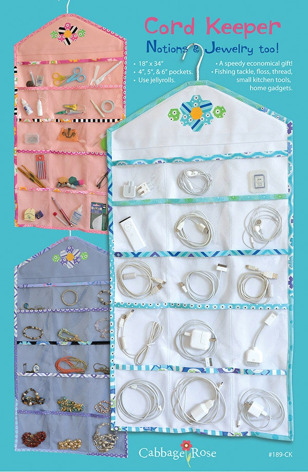 Cord Notions And Jewelry Keeper Sewing Pattern From Cabbage