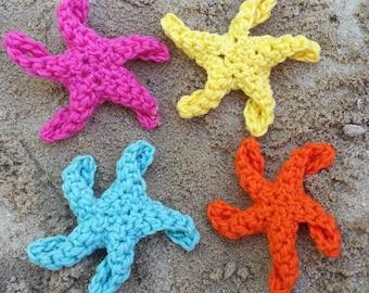 Crochet Starfish Hair Barrettes with Available add on Headband