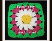 Easy Crochet Granny Square Flower Blanket Pattern
