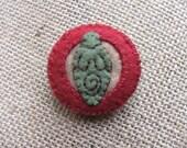 Earth Goddess Eco Felt Brooch Pin, Goddess Jewelry, Pagan Jewelry, Pagan Pin, Recycled Jewelry, Embroidered Felt,  Vegan Jewelry