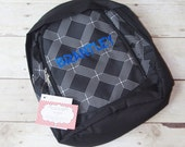 SALE - Embroidered Pre-school Backpack - Black Diamond - Free Matching Pencil Case