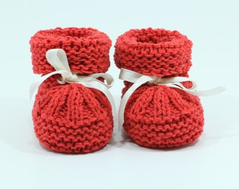 Knitted baby socks Shoes Pattern in the size 3 - 6 months Baby booties pattern newborn booties PDF