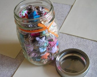 Children's Stars - Mason Jar of Affirmation Stars for Kids