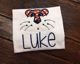 Auburn tiger appliqué