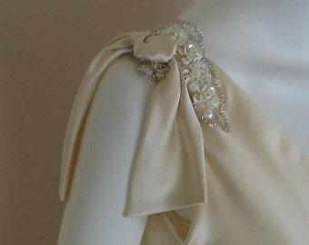 Art Deco Style Beaded Applique Wedding Dress