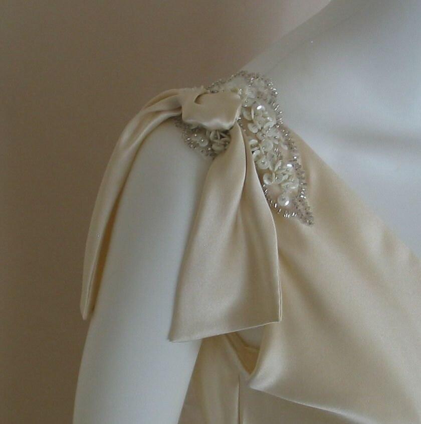 art deco style beaded applique wedding dress from. Black Bedroom Furniture Sets. Home Design Ideas
