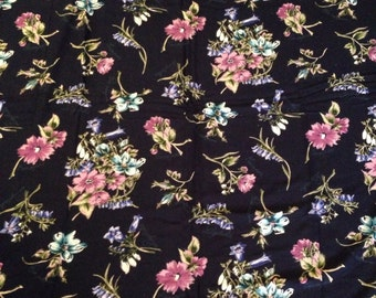 Vintage Fabric, floral. Very soft flowy feel.