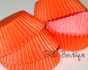 50ct. Solid ORANGE Standard Cupcake Liners Baking Cups (Free Shipping!)