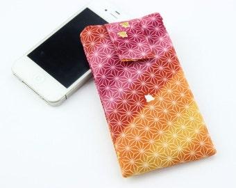 SALE Kimono iPhone 4s Cover, iPhone 5c Sleeve, Gift Idea Under 15, Rainbow Red