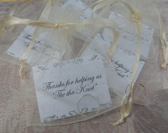 Knot Ring Bridesmaid Gift - Unique Affordable Personalized Gift for Bridesmaids - Tie the Knot Ring With Personalized Card and Pouch