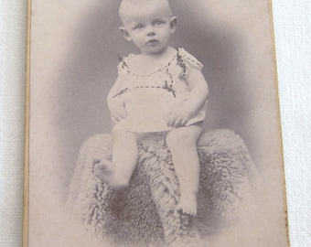 Vintage French Studio Portrait, Cabinet Card of the Late 1800's, Old Studio Portrait, Photograph of a Child