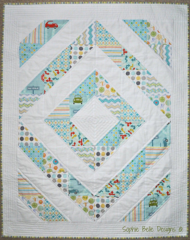 Modern Nursery Quilt Patterns : Modern Baby Quilt Baby Quilt Modern Nursery by SophieBelleDesigns