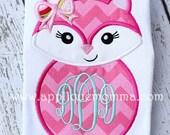 Sample Sale - Fox Applique - Boy or Girl Monogram