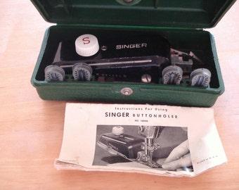 Vintage SINGER Sewing Machine Attachment Button Hole.
