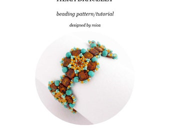 Heka Bracelet - Beading Pattern/Tutorial - PDF file for personal use only
