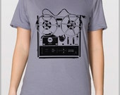 Reel to Reel Unique T Shirt Music Lover Musician Tee American Apparel Unisex  XS, S, M, L, XL 9 COLORS