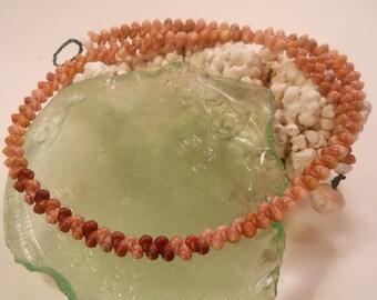 """Hawaiian Kahelelani Shell Necklace Lei 17.5""""Tiny Kauai Seashells- Single Strand Herringbone- Eco Friendly Shell Jewelry"""