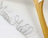 Personalized Hanger, Bride Hanger, Name Hanger, Custom Hanger, Wedding Gift, Shower Gift
