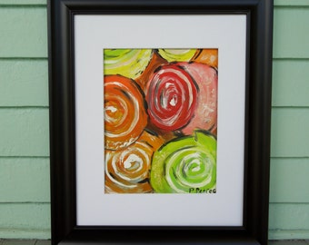 Abstract Original Painting Candy Land will add Pop to your  Decor