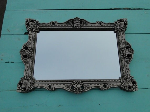 Silver Mirror Wall Photo Frame: Extra Large Ornate Vintage Mirror Wall Mirror Silver By