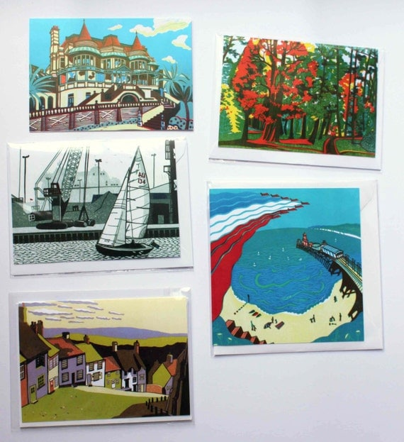 20 Greetings & Christmas cards - pick your own set of contemporary fine art cards