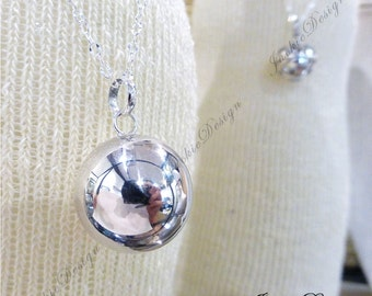 Large 20mm Plain Harmony Ball (aka Mexican Bola) Pendant (Necklace)- Maternity Necklace LS71