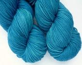 Hand Dyed Superwash Merino Sport Weight Yarn in Neptune Colorway