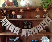 Give Thanks Bunting, Thanksgiving Bunting, Bunting Banner, Thanksgiving Garland, Autumn Bunting, Thanksgiving Banner, Thankful Bunting