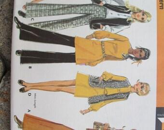 McCalls 2120 Misses and Junior Coordinates Dress Blouse Jacket Vest Pants pattern UNCUT (Size 12) / Vintage retro 1970's pant suit pattern