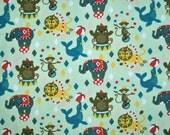Organic Stretch Jersey fabric - Lillestoff - Circus World / Zirkuswelt - 1/2 yard